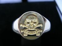 New 9ct Gold QUEEN'S ROYAL LANCERS Seal Style Signet Ring. Excellent Quality.