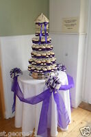 Wedding cake table decorating kit. swags & 3 bows kit made in any colour