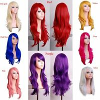 Womens Lady Long Hair Wig Curly Wavy Synthetic Anime Cosplay Party Wigs Tool