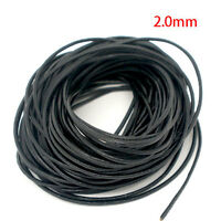 Free Shipping Black Round Real Leather Jewelry Cord 2mm 50M Length