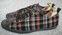 Paul Smith Trainers Size UK 10 MUSA Orange/Brown Wool Canvas