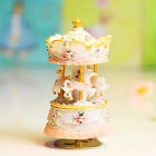 Colorful LED 18 Sounds Castle In The Sky Merry-Go-Round Wind-Up Music Box Gifts