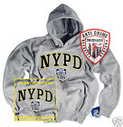 NYPD/POLICE/CLOTHING/APPAREL/HOODIE/SWEAT SHIRT/GRAY/XL