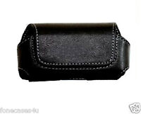 LEATHER POUCH CASE FOR NOKIA SLIM CASE COVER BLACK FONE