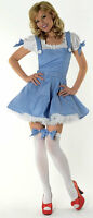 SEXY DOROTHY WIZARD OF OZ FANCY DRESS COSTUME OUTFIT, SIZE: XL (16-18)