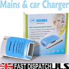 Fast 1 Hour Car LCD Battery Charger for AA & AAA