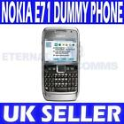 NEW NOKIA E71 SILVER DUMMY DISPLAY PHONE - UK SELLER