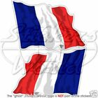 "FRENCH Flying Flag FRANCE Bumper Sticker 12cm (4.7"") x2"