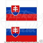 "SLOVAKIA Slovak Flag 10cm (4""), Vinyl Sticker Decal x2"