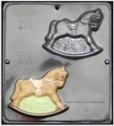 NEW 2 Cavity ROCKING HORSE Chocolate Candy Plaster Mold