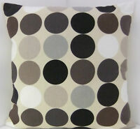RETRO BROWN BEIGE GREY BLACK 60'S DESIGN CUSHION COVERS SPOTTED SCATTER COVERS