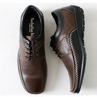 Manhattan Casual Lace Sneakers Mens Brown Shoes