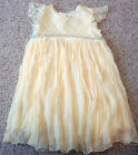 Polyester Cap Sleeve Dress Pale yellow by S W A T 5 G87
