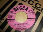 PEGGY LEE- POP RARE PROMO - I HERE THE MUSIC NOW