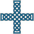 CELTIC CROSS VINYL STICKER BUMPER DECAL RELIGIOUS CAR BIKE KNOT DESIGN 13 cyan