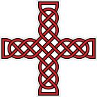 CELTIC CROSS VINYL STICKER BUMPER DECAL RELIGIOUS CAR BIKE KNOT DESIGN 11 red