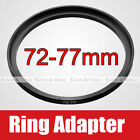 72mm to 77mm Male - Female Lens Step Up Ring Adapter 72-77 Lens Hood Cap Filters