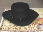 BONANZA ADAM CARTWRIGHT BLACK WESTERN COWBOY WOOL HAT SIZE MEDIUM LARGE XL EXTRA