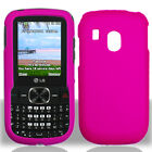 TRACFONE NET10 STRAIGHTTALK LG 500g RUBBER COATED HOT PINK SNAP ON CASE COVER