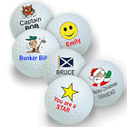 3 Ball Pack of Personalised Golf Balls with any name or wording and a design