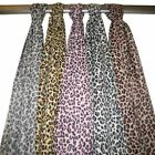 Wholesale Lot 5 Leopard Print Chiffon Scarves
