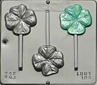 NEW St Pattys Day FOUR LEAF CLOVER Chocolate Candy Fondant Plaster Lollypop Mold