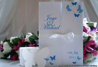 Sample Wedding Invitation Diamante - Butterfly - Day Evening Invite Gatefold