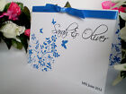 Sample Floral Butterfly Wedding Invitation - Diamante - Day / Evening Invite