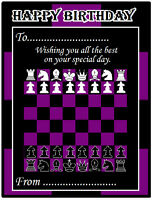 CHESS BIRTHDAY CARD (MAGNECTIC) - *PERSONALISED 4 U* JUST PLACE ON THE FRIDGE
