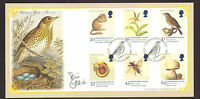 #GB A G BRADBURY FDC 1998 ENDANGERED SPECIES SIGNED BY BILL ODDIE LTD EDITION