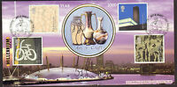 #GB A G BRADBURY FDC ART AND CRAFT SIGNED BY MELVYN BRAGG LTD EDITION