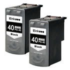 2PK Black PG-40 PG 40 Ink Cartridge For Canon PIXMA MP190 MP210 MP450 MP460