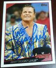 The King Jerry Lawler Signed WWE 2009 Topps Card #53 Autograph Auto'd RAW