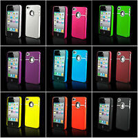 FITS iPHONE 4 4S CASE NEW STYLISH GRIP CHROME SERIES HARD COVER