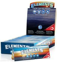 ELEMENTS ULTRA THIN ROLLING PAPER 1 1/4 CIGARETTE SMOKING 1.25 SLOW BURNING