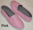 Brand New Women's Classic Slip On Flat Casual Shoes Pink Color Free Shipping