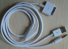 2x 3.5mm Car AUX Audio USB Cable for iPhone 3G 3GS 4 4G 4GS 4S iPod