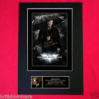 THE DARK KNIGHT RISES Michael Caine BATMAN Signed Autograph Mounted A4 Print 105