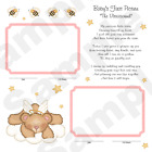 BABY SHOWER GIFT PREMADE ANGEL BEAR GIRL FIRST YEAR SCRAPBOOK PAGES ULTRASOUND