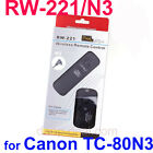 RW-221/N3 Wireless Shutter Remote for Canon 5D MarkⅡ 1D Mark II MarkⅢ 7D 5D