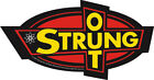 New, STRUNG OUT - Yellow Black Red Logo VINYL STICKER