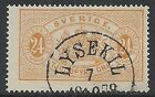 Sweden stamps 1874 YV Service 8B P.14 CANC VF