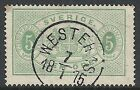 Sweden stamps 1874 YV Service 3B P.14 CANC VF