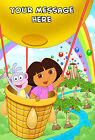 DORA PERSONALISED EDIBLE ICING CUSTOM PARTY CAKE DECORATION TOPPER IMAGE