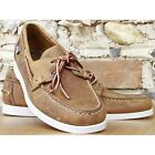 Sebago Docksides Light Brown/White Deck/Casual Shoes **IDEAL GIFT**