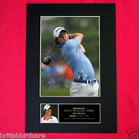 RORY McLLROY Signed Autograph Mounted Photo Repro A4 Print 269