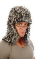 Mens ADULT Grey Superior Theatrical Judge Fancy Wig Court Costume BARRISTER
