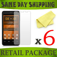 6 x Clear front screen protectors for Orange San Diego - phone accessory