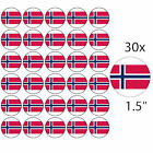 """NORWAY - 30 x 1.5"""" Rice Paper Cake Toppers - Free 1st class P&P"""