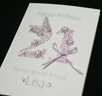 LARGE Handmade Personalised  Birthday Card16th 21st 20th 30th 40th.. any age